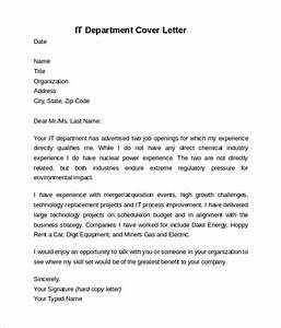information technology cover letter template 8 download With what information should be in a cover letter