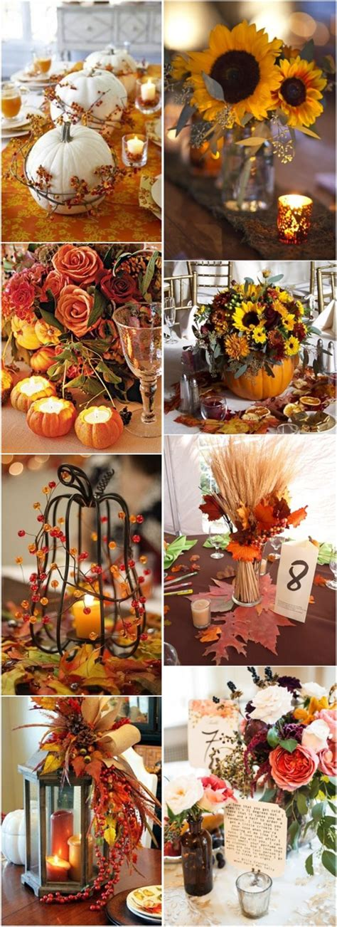 50+ Vibrant and Fun Fall Wedding Centerpieces Deer Pearl