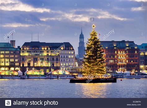 weihnachtsbaum alster tree on lake alster in hamburg germany stock photo 76303013 alamy