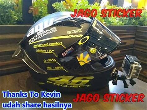 jual cutting sticker stiker helm custom agv pista