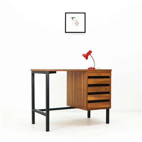 mid century modern small desk small mid century modern writing desk walnut steel 67670