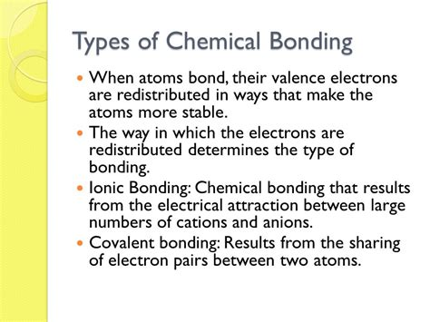 Introduction To Chemical Bonding  Ppt Video Online Download