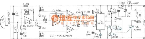 Pyroelectric Control Automatic Energy Saving Lamps Circuit