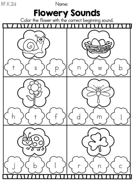 preschool spring worksheets spring kindergarten literacy worksheets common core