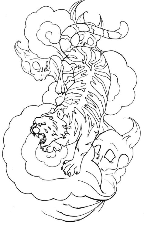 I did this Tattoo design for a friend of mine.. She wants it on her back. | Japanese tiger
