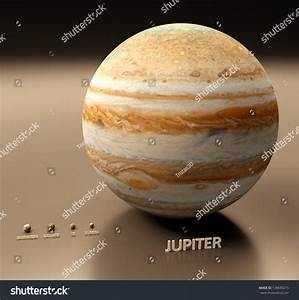 A Rendered Size Comparison Of The Planet Jupiter And Its ...