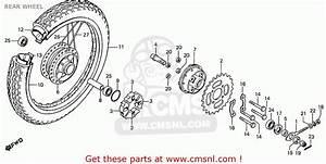 Honda Cd70b General Export Type 4 Rear Wheel