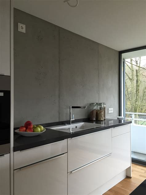 Glasplatte Wand Küche by Betonoptik Die Trendige Wandgestaltung Farbefreudeleben