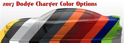 check    dodge charger color options