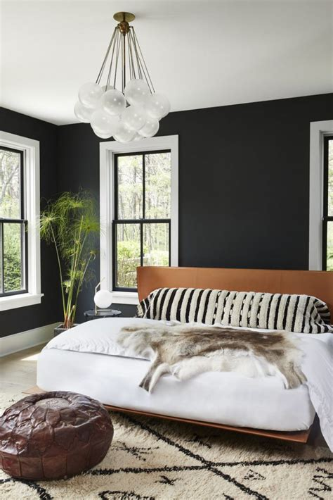black accent wall ideas    bold statement