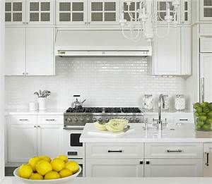 White kitchen ideas traditional kitchen diana for Small white tile backsplash