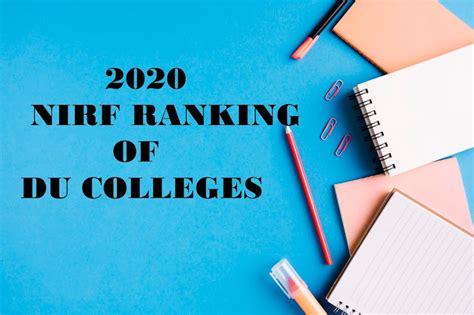 TOP 20 NIRF RANKING COLLEGES OF DU
