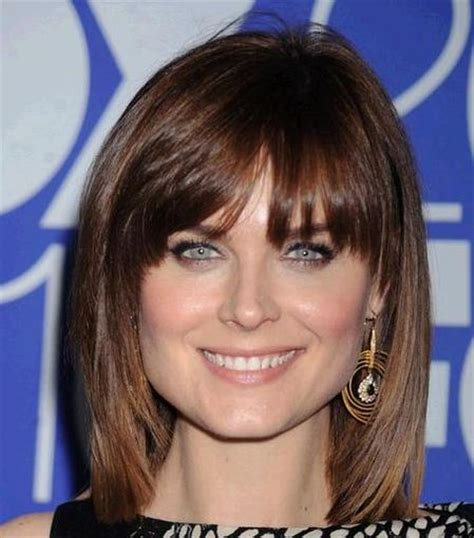 wispy bangs for with square face shape hairstyle ideas