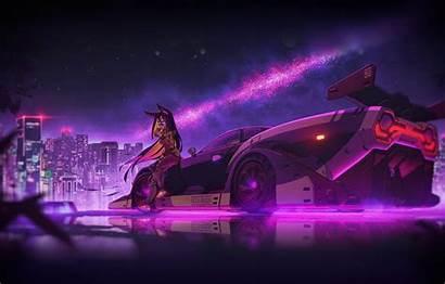 Neon Retro Wallpapers Wave Cyberpunk Synthwave Retrowave
