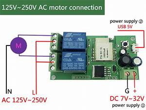 Motor Clockwise   Anticlockwise Running Wifi Wireless Switch