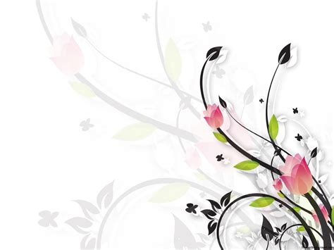 floral white  black  template   backgrounds