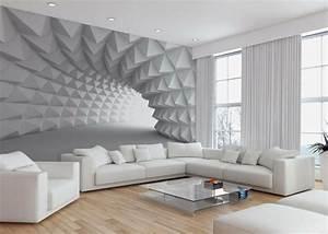 Tapeten Für Kleine Räume : wand mit fototapete gestalten minimalistische tunnel wohn ideen pinterest fototapete ~ Indierocktalk.com Haus und Dekorationen