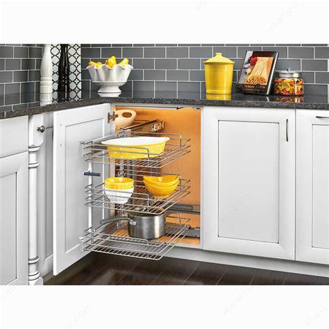 blind kitchen cabinet solutions three tier blind corner optimizer richelieu hardware 4794