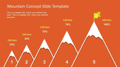 step mountain concept  powerpoint slidemodel