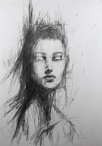 Kunst Zeichnungen Bleistift : abstraktes portrait 3 portrait abstrakt schwarzwei zeichnung von nathalie ziegler bei kunstnet ~ Yasmunasinghe.com Haus und Dekorationen
