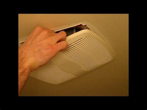 bathroom vent fan remove cover  clean dust youtube
