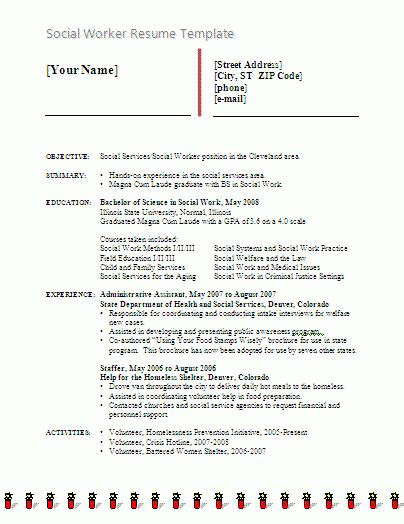 Social Work Resume Templates by Social Worker Resume Template Free Word Templates