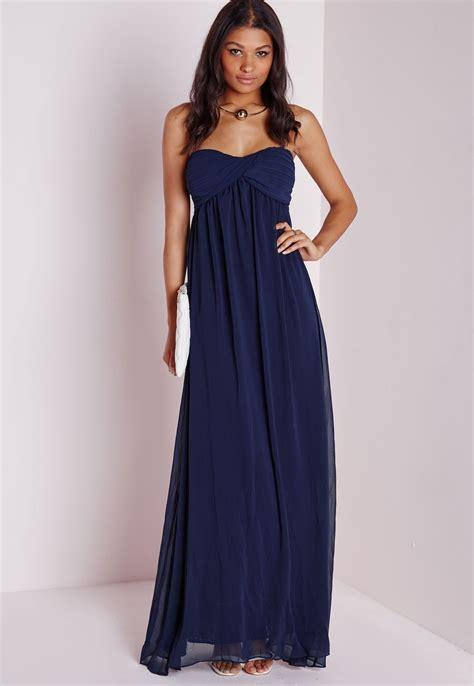 robe bleu marine mariage mi longue robe longue bleu