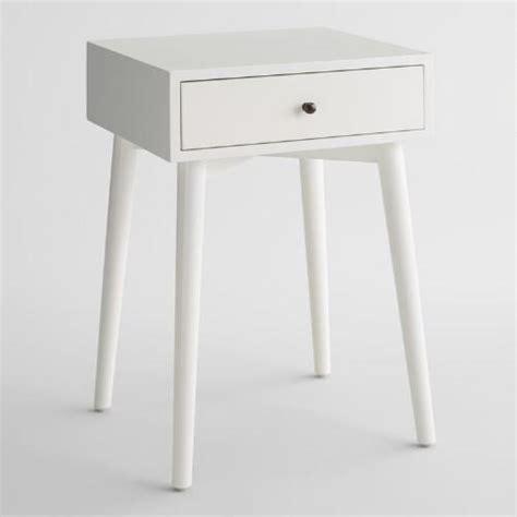 white mid century nightstand white mid century nightstand world market
