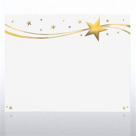 foil certificate paper milky  stars gold