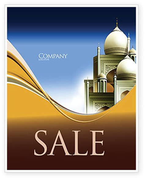 islamic architecture sale poster template  microsoft
