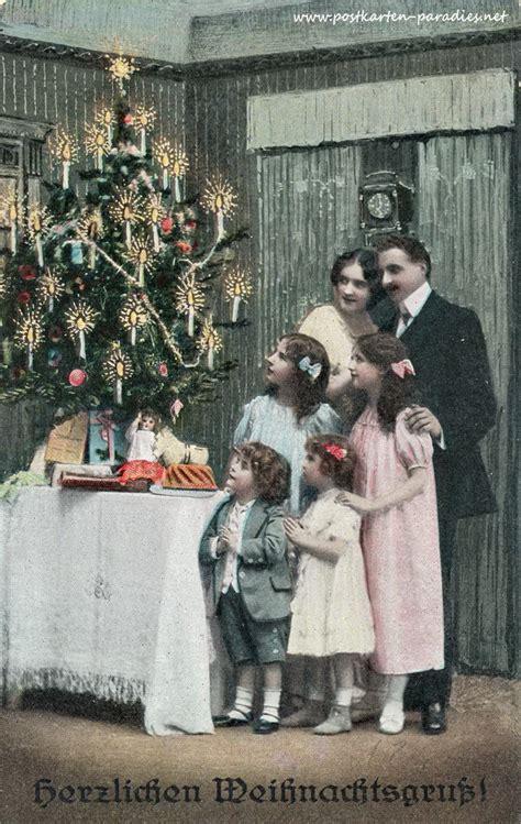 alte weihnachtskarten mit frauen maedchen familien alte