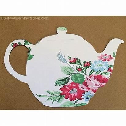 Tea Party Invitation Victorian Bridal Template Pot