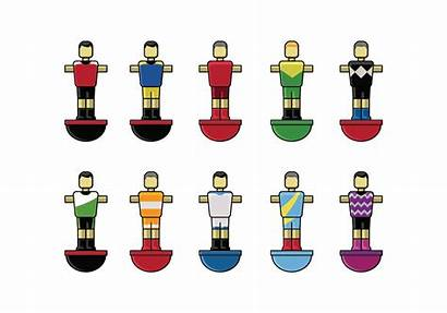 Football Player Vector Table Clipart Graphics Edit