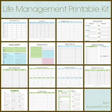 life management printable kit includes   printables