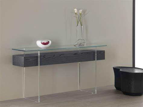 bureau en verre transparent tables consoles en verre design et modernes