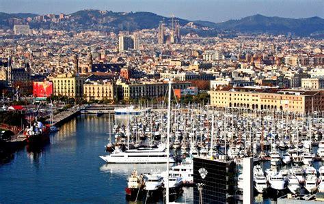 exploring barcelona harbor  spain travel