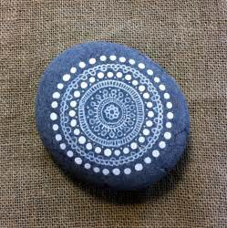 Mandala Painted Pebble