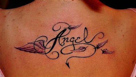 tattoo lettering tattoos fonts letters ideas angel