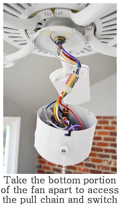 How Fix Ceiling Fan Light Switch Pull Chain