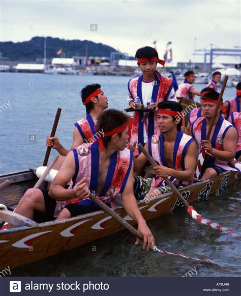 Dragon Boat Racing Ta by Okinawa Sake Stock Photos Okinawa Sake Stock Images Alamy