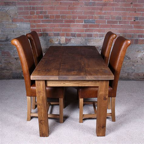 solid wood dining table by h f notonthehighstreet