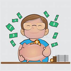 Save Money In Piggy Bank.the Financial Marketing Concept ...
