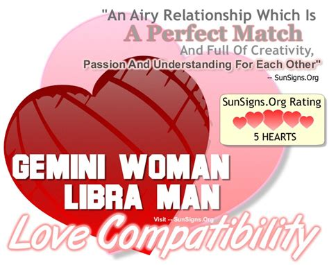 gemini woman and libra man the perfect and passionate