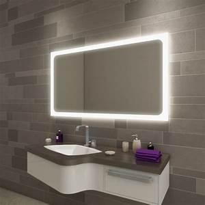 Spiegel Mit Schräge : carlo badezimmerspiegel mit beleuchtung online kaufen ~ Michelbontemps.com Haus und Dekorationen