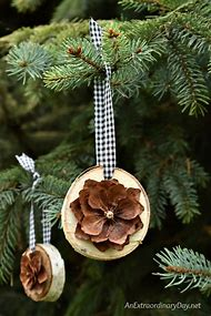 pine cone christmas tree ornaments diy