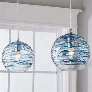 swirling, glass, globe, pendant, light