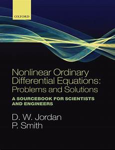 Nonlinear Ordinary Differential Equations  Problems And