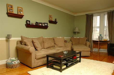 Olive Green Type Color & Brown Rooms