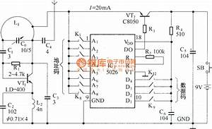 Ultra-small 400 Meters Wireless Remote Control Circuit Diagram