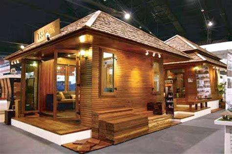rumah kayu sederhana desain unik  murah